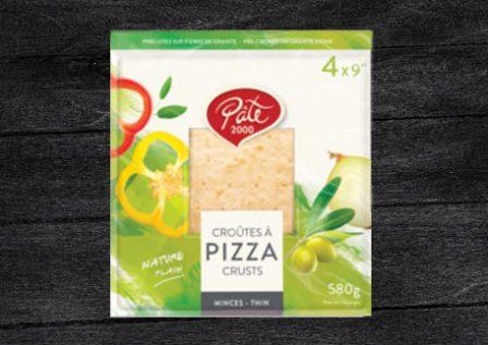 Croûtes à pizza carrée
